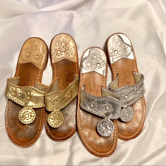 0ab83182f Jack Rogers Shoes - Jack Rogers SILVER Palm Beach Sandals